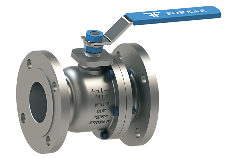 Two piece ball valve forxar industries